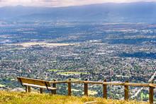 Vista Point Overlooking San Jose, The Heart Of Silicon Valley; South San Francisco Bay Area, California