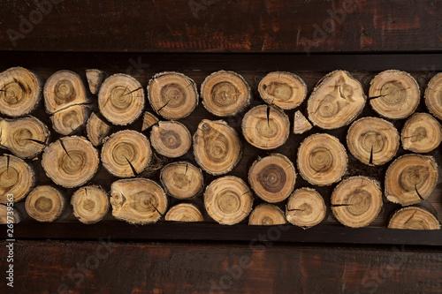 Cadres-photo bureau Texture de bois de chauffage Firewood