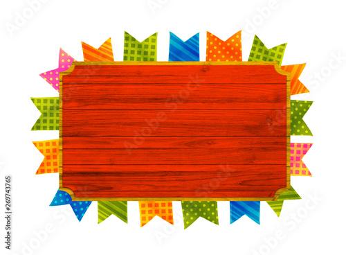 Fotografia, Obraz Festa Junina com bandeiras de fundo para varejo