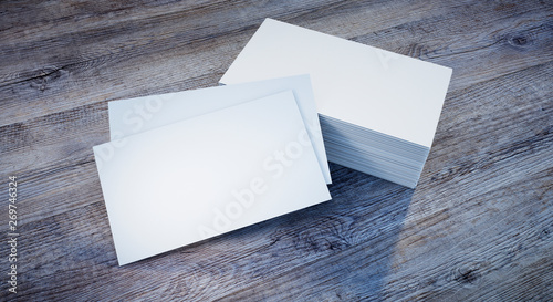 Visitenkarten Mockup Auf Holz Buy This Stock Photo And