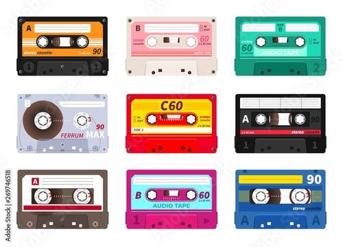 Retro cassettes Wallpaper Mural