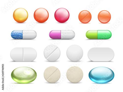 Carta da parati Realistic pills