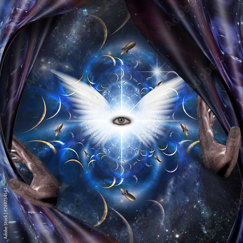Canvas-taulu Angel Eye
