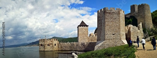 Fotomural Golubac Fortress - was a medieval fortified town on the south side of the Danube