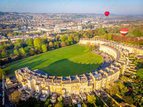 Foto  View of Royal crescent house in Bath, England