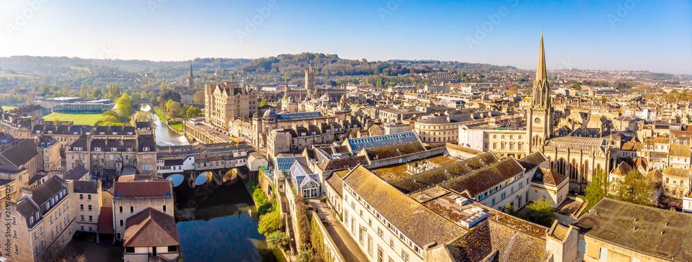 Fototapety, obrazy: Aerial view of Pulteney bridge in Bath, England