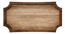Decorative Wooden Signboard Made Of Natural Wood And With Dark Frame