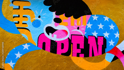 Graffiti open your mouth!