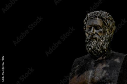 Obraz na plátně Bust of tragic poet Sophocles