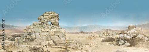 Fotografija Landscape photo of a desert wasteland.