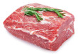 canvas print picture - Raw pork on white background