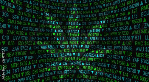 Fényképezés Marijuana Cannabis Leaf Stock Market Symbol Company Business 3d Illustration