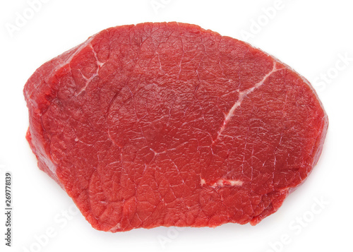 Raw beef on white background - 269778139