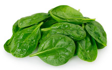 Fresh Spinach On White Backgro...