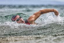 Triathlon Swim Tired Swimmer S...