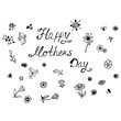 Mothers Day, sketch, vector illustration