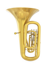 Tuba Musical Instrument Isolated