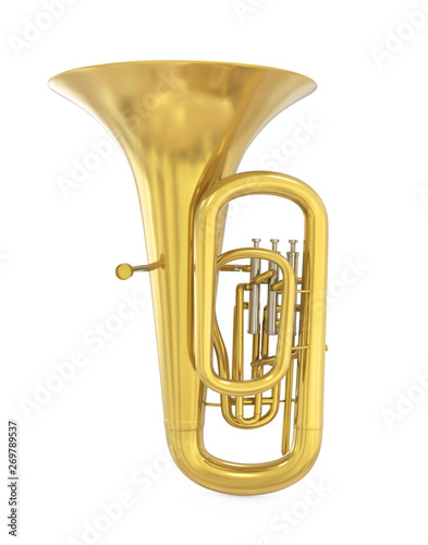 Tuba Musical Instrument Isolated Wallpaper Mural