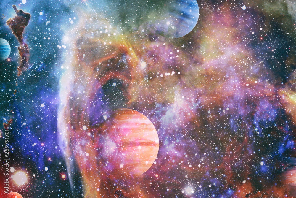 Fototapeta Star cluster and nebula - A cloud in space. Abstract astronomical galaxy. Elements of this image furnished by NASA.