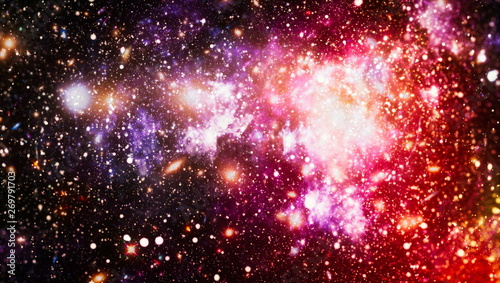Star cluster and nebula - A cloud in space. Abstract astronomical galaxy. Elements of this image furnished by NASA. - 269791703