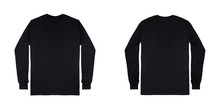 Blank Plain Black Long Sleeve ...