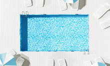 Top View Swimming Pool With Be...