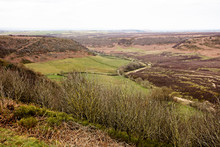 The Hole Of Horcum From Saltergate Bank In Winter, North York Moors National Park, Yorshire, England, UK.