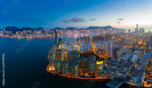 Fototapety, obrazy: Top view of Hong Kong city