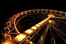 Ferris Wheel Night Colorful Li...