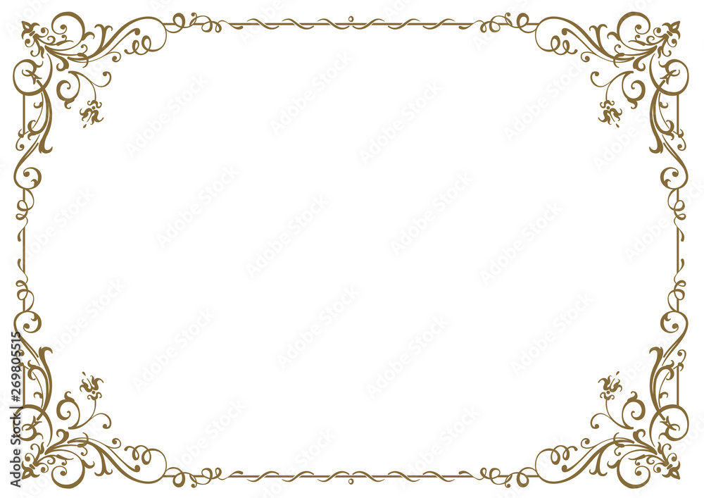 Fototapeta Calligraphic frame and page decoration. Vector illustration