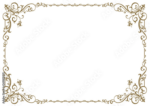 Calligraphic frame and page decoration. Vector illustration Poster Mural XXL