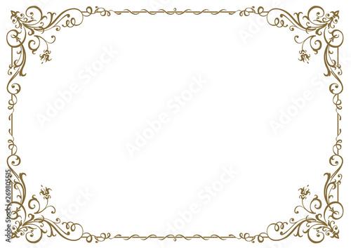 Fototapeta Calligraphic frame and page decoration. Vector illustration obraz
