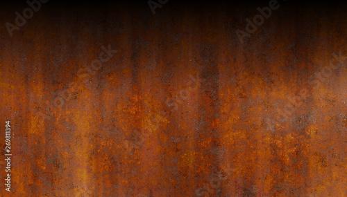 Fotografie, Obraz  rust corroded aged wallpaper