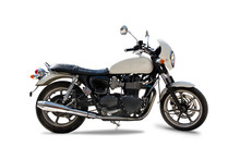 Classic British Motorcycle Isolated On White