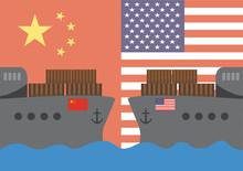Trade War Concept Between Amer...
