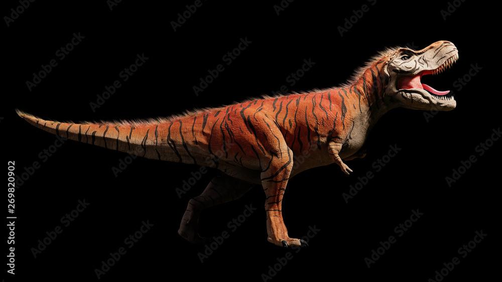 Fotografie, Obraz  Tyrannosaurus rex, T-rex dinosaur from the Jurassic period (3d dino rendering is