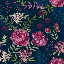 Embroidery Trend Floral Seamle...