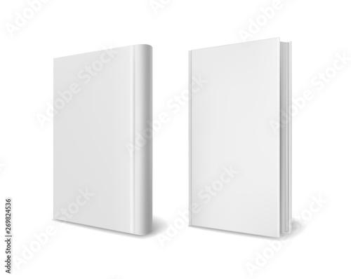 Realistic book cover mockups Billede på lærred