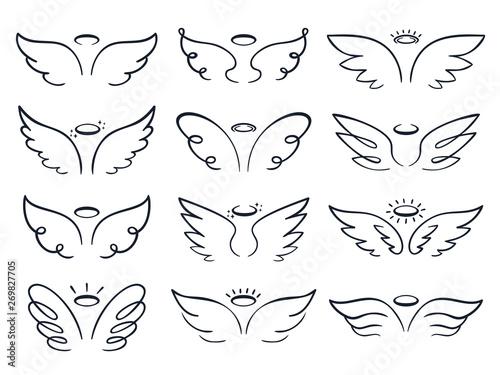 Foto  Cartoon sketch wing