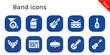 Leinwanddruck Bild - band icon set