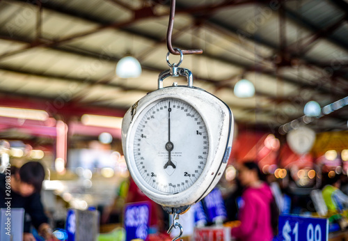 Obraz na plátně Spring Scale at Queen Victoria Markets in Melbourne, Australia