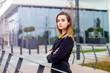 canvas print picture Portrait of young businesswoman