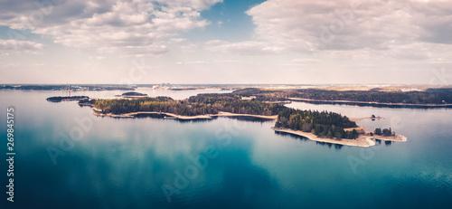 Photo Aerial panorama view of Ruissalo, Turku, Finland.