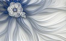 3d Wallpaper Decoration Abstract Fractal Fantastic Flower