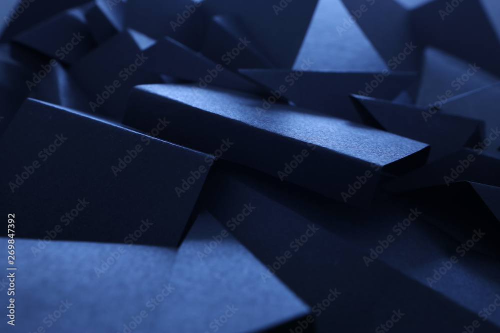 Abstract background of geometric shapes. Dark tones