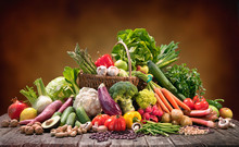 Selection Of Organic Food For Healthy Nutrition