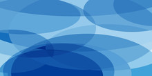 Blue Ovals Abstract Background
