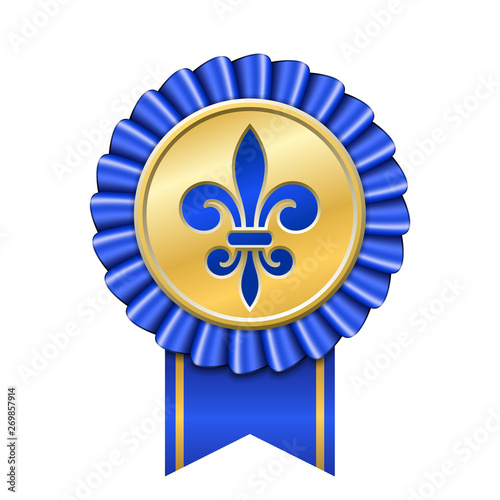Vászonkép Award ribbon gold icon
