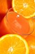 spremuta di arance ed arance, oranges and orange juice
