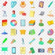 Clerk icons set. Cartoon style of 36 clerk vector icons for web for any design